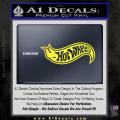 Hot Wheels Decal Sticker D2 Yellow Vinyl 120x120