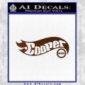 Hot Wheels Mini Cooper D1 Decal Sticker Brown Vinyl 120x120