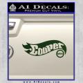 Hot Wheels Mini Cooper D1 Decal Sticker Dark Green Vinyl 120x120