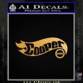 Hot Wheels Mini Cooper D1 Decal Sticker Gold Metallic Vinyl 120x120