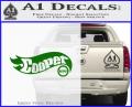 Hot Wheels Mini Cooper D1 Decal Sticker Green Vinyl 120x97