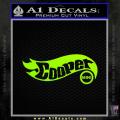 Hot Wheels Mini Cooper D1 Decal Sticker Neon Green Vinyl 120x120