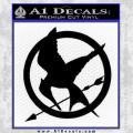Hunger Games Mockingjay Decal Sticker Black Vinyl 120x120