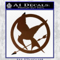 Hunger Games Mockingjay Decal Sticker Brown Vinyl 120x120