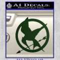 Hunger Games Mockingjay Decal Sticker Dark Green Vinyl 120x120