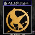 Hunger Games Mockingjay Decal Sticker Gold Metallic Vinyl 120x120