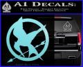 Hunger Games Mockingjay Decal Sticker Light Blue Vinyl 120x97