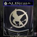 Hunger Games Mockingjay Decal Sticker Metallic Silver Vinyl 120x120