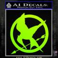 Hunger Games Mockingjay Decal Sticker Neon Green Vinyl 120x120