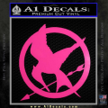 Hunger Games Mockingjay Decal Sticker Neon Pink Vinyl 120x120