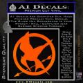 Hunger Games Mockingjay Decal Sticker Orange Emblem 120x120