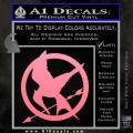 Hunger Games Mockingjay Decal Sticker Soft Pink Emblem 120x120