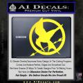 Hunger Games Mockingjay Decal Sticker Yellow Vinyl 120x120