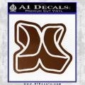 Hurley 3D Decal Sticker Brown Vinyl 120x120