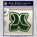 Hurley 3D Decal Sticker Dark Green Vinyl 120x120