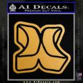 Hurley 3D Decal Sticker Gold Metallic Vinyl 120x120