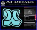 Hurley 3D Decal Sticker Light Blue Vinyl 120x97