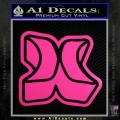 Hurley 3D Decal Sticker Neon Pink Vinyl 120x120