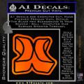 Hurley 3D Decal Sticker Orange Emblem 120x120
