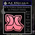 Hurley 3D Decal Sticker Soft Pink Emblem 120x120