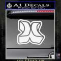 Hurley 3D Decal Sticker White Vinyl 120x120