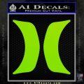 Hurley Logo Decal Sticker Lime Green Vinyl 120x120