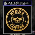 Hyrule Coffee Starbucks D2 Decal Sticker Gold Vinyl 120x120