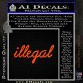 Illegal D1 Decal Sticker Orange Emblem 120x120