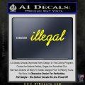 Illegal D1 Decal Sticker Yellow Laptop 120x120