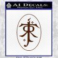 J. R. R. Tolkien Monogram Jrr Self Designed D1 Decal Sticker BROWN Vinyl 120x120