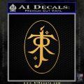 J. R. R. Tolkien Monogram Jrr Self Designed D1 Decal Sticker Gold Vinyl 120x120