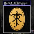 J. R. R. Tolkien Monogram Jrr Self Designed D2 Decal Sticker Gold Vinyl 120x120