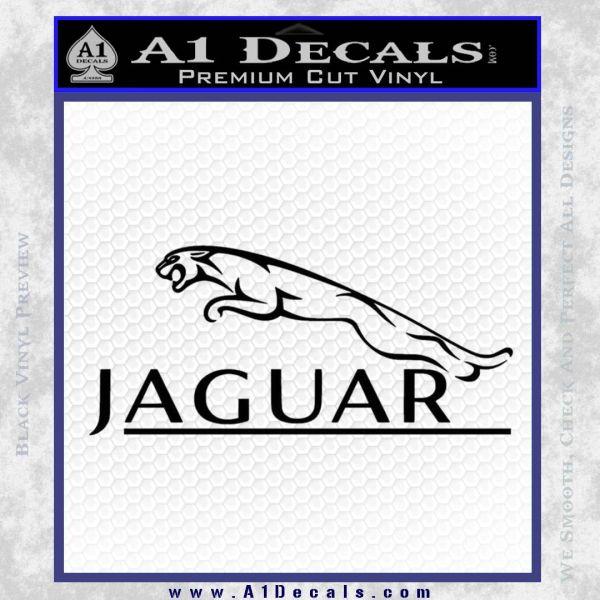 Jaguar Logo RR Decal Sticker Black Vinyl