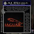 Jaguar Logo RR Decal Sticker Orange Emblem 120x120