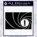 James Bond 007 Decal Sticker Barrel RT Black Vinyl 120x120