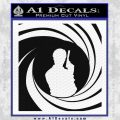 James Bond 007 Decal Sticker Barrel SQ 2 Black Vinyl 120x120