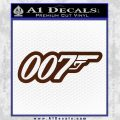James Bond 007 Decal Sticker New BROWN Vinyl 120x120