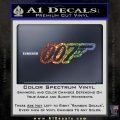 James Bond 007 Decal Sticker New Glitter Sparkle 120x120