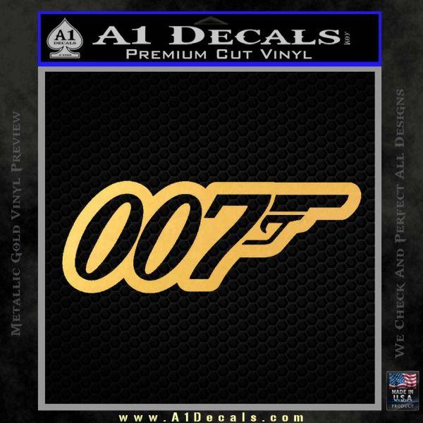 James Bond 007 Decal Sticker New Gold Vinyl