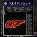 James Bond 007 Decal Sticker New Orange Emblem 120x120