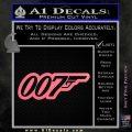 James Bond 007 Decal Sticker New Pink Emblem 120x120