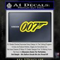 James Bond 007 Decal Sticker New Yellow Laptop 120x120