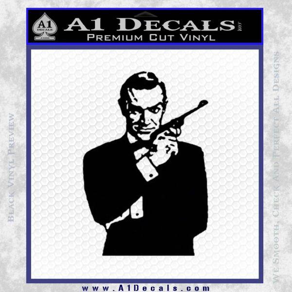 James Bond Connery 007 Decal Sticker Black Vinyl