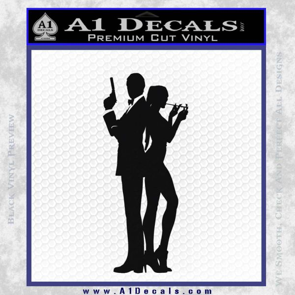 James bond w girl decal sticker silhouette black vinyl