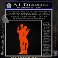 James Bond w Girl Decal Sticker Silhouette Orange Emblem 120x120