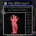 James Bond w Girl Decal Sticker Silhouette Pink Emblem 120x120