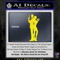 James Bond w Girl Decal Sticker Silhouette Yellow Laptop 120x120