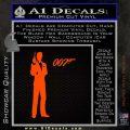James Bond with 007 Decal Sticker Orange Emblem 120x120