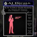 James Bond with 007 Decal Sticker Pink Emblem 120x120
