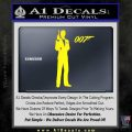 James Bond with 007 Decal Sticker Yellow Laptop 120x120